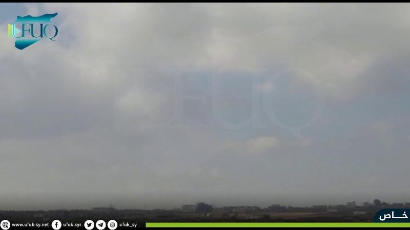 الطائرات الحربية الروسية تستهدف بصواريخ شديدة الانفجار محيط بلدة جرجناز في ريف ادلب الجنوبي الشرقي