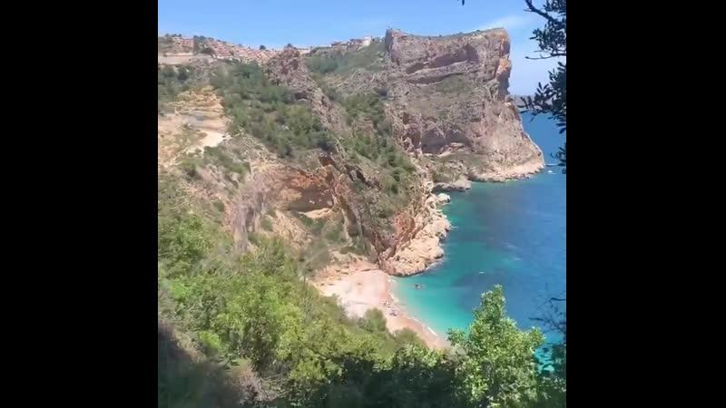 Пляж Cala de Llebeig, Бенитачель, Аликанте, Испания