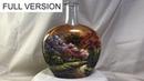 Full version DIY Painted Wine Bottles using Vitrail Pebeo