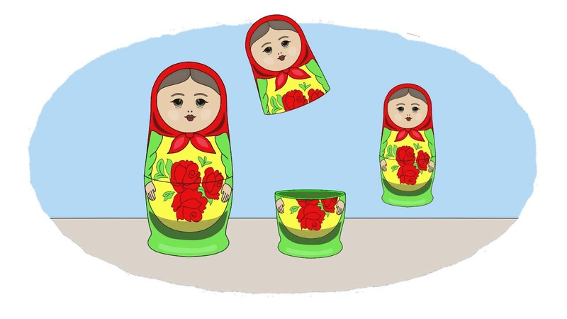 The Colouring Book! Learn Colours 4 Roly-poly toy, Matryoshka Beautiful doll!