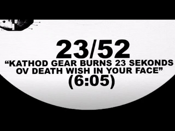 Hypnoskull Kathod Gear Burns 23 Sekonds Ov Death Wish in Your Face AT 23 52