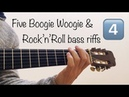 Five Boogie Woogie Rock'n'Roll bass riffs 4 Sheet music TAB