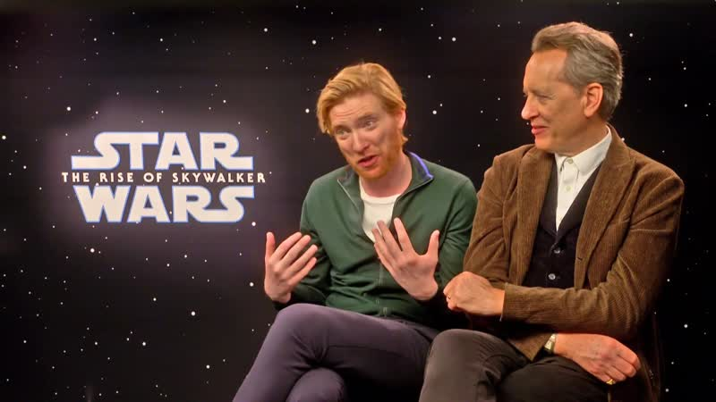 Star Wars Rise of Skywalker chat with Domhnall Gleeson and Richard E Grant