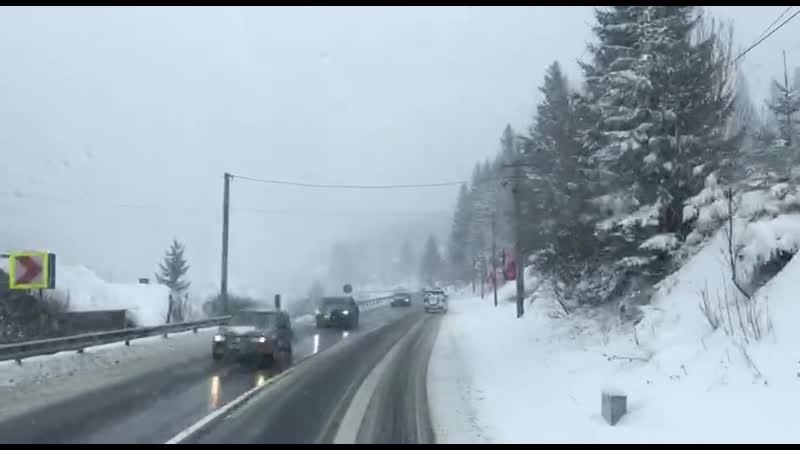La Predeal ninge
