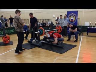 Мое выступление на Чемпионмте России 2019 среди военнослужающихпо Русскому жиму,на видео подход107.5 на 13 повторений