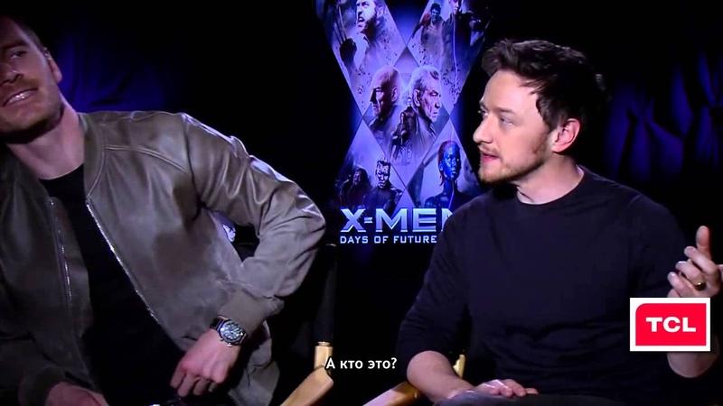 X Men Days of Future Past Interview Jackman photobombs