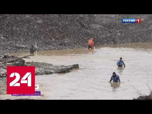 Прорыв нелегальной дамбы: поток выворачивал все на своем пути - Россия 24