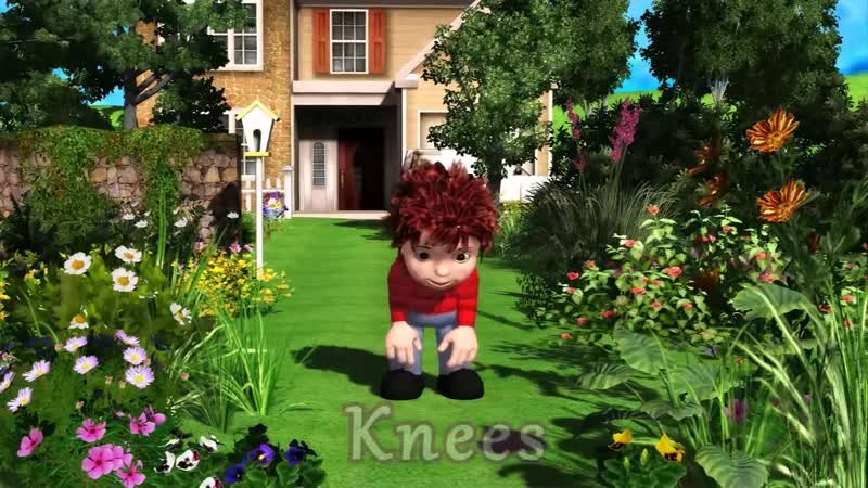 Muffin Songs Head Shoulders Knees and Toes nursery rhymes children songs with lyrics