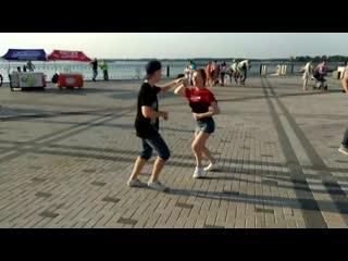 Mambo on the street _ Станислав Швецов и Наталья Небогатикова