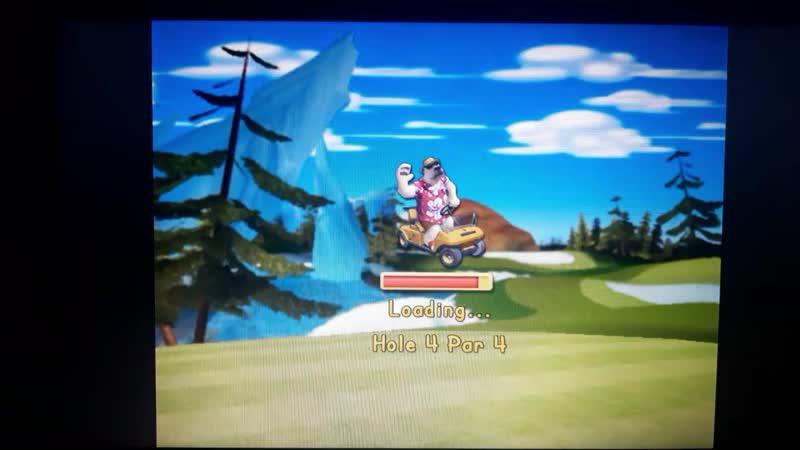 Фрагмент игры Polar Golfer
