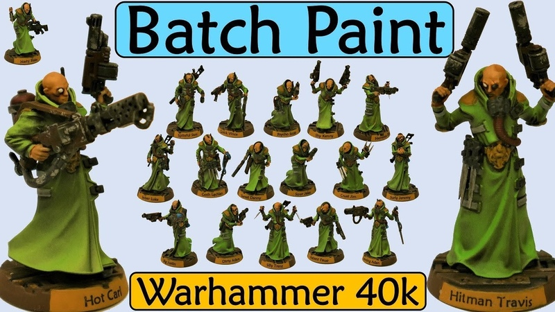 Batch Painting Warhammer 40k Necromunda Delaque