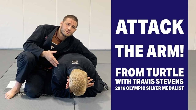 Attacking The Turtle With A Judo Style Arm Lock Travis Stevens Basic BJJ Techniques