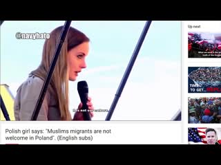 Polish girl says: muslims migrants are not welcome
