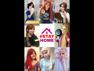 Stay Home with Disney princess ^^