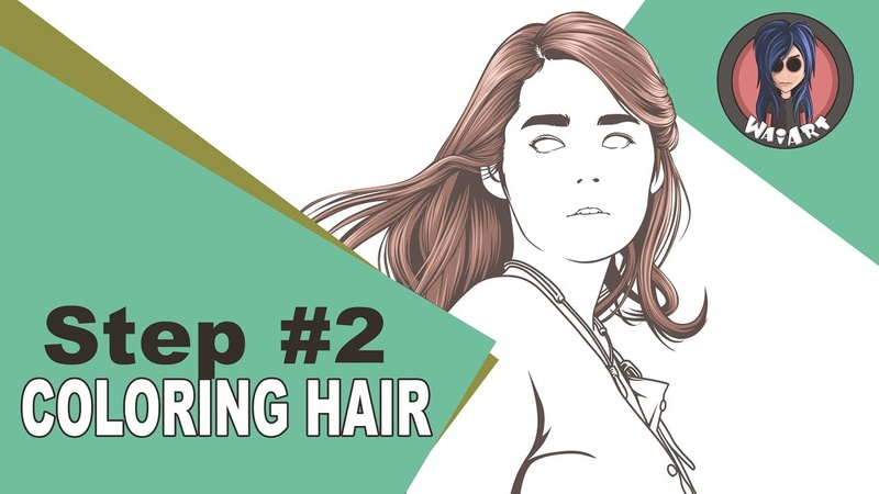 Vexel Art Tutorial using photoshop cs6 (step 2 coloring hair)