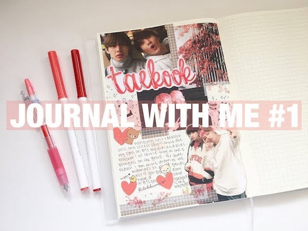 Journal with me 1 taekook spread✧・゚* | bts