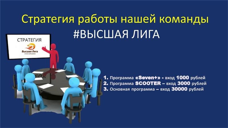 КОМАНДА ВЫСШАЯ ЛИГА2019 11 15 Программы бизнес-проекта Cryptomoney