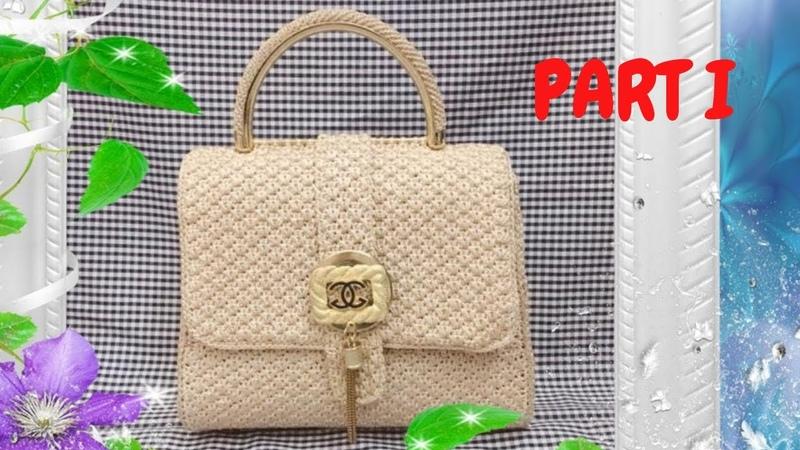 Hướng dẫn móc túi xách size 20x16x12- Part 1 - Handbag crochet-Крючок сумка