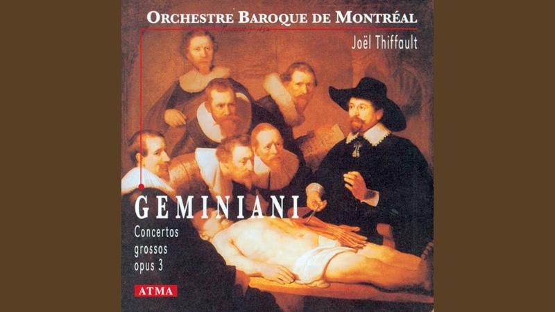 Concerto Grosso in D Major Op 3 No 1 I Adagio