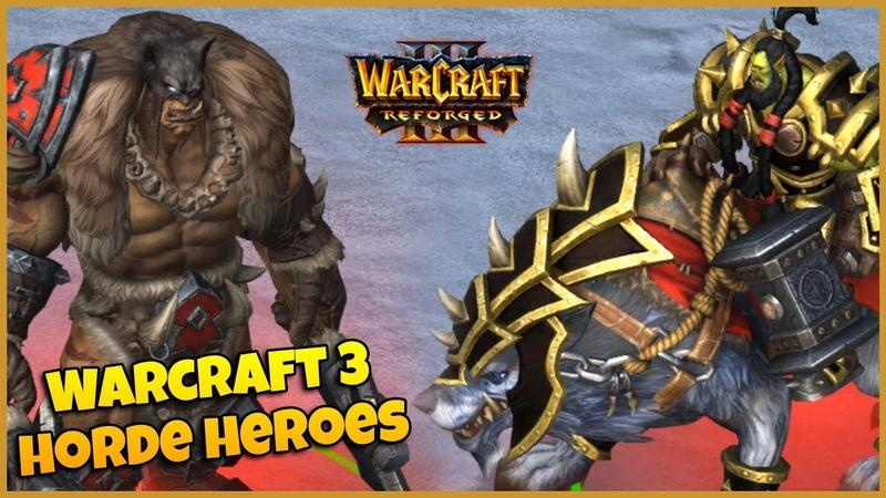 Warcraft 3 Reforged | Horde Heroes Spell Animations