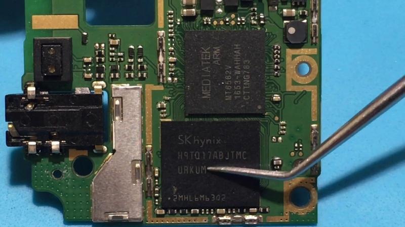Huawei TIT U02 Y6 Pro замена EMMC
