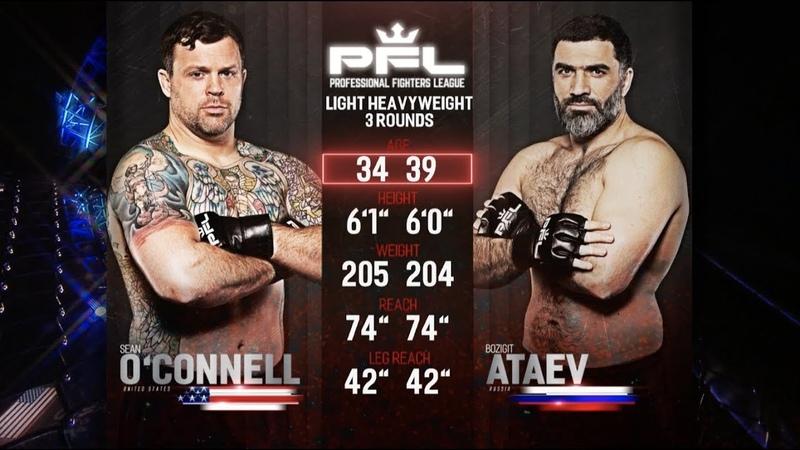 PFL 2018 Full Fight Friday Sean O'Connell vs Bozigit Ataev