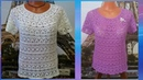 Блузка Японская лилия крючком.Часть5.МК для начинающих.louse Japanese Lily crochet.Часть5.