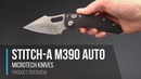 Microtech Borka Stitch-A M390 Button Lock Automatic Overview