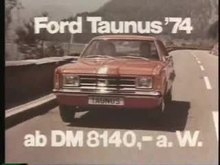 Реклама Ford Taunus (1973)
