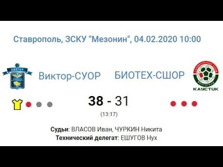 «Виктор-СУОР» - «БИОТЕХ-СШОР» - 38:31 (13:17)