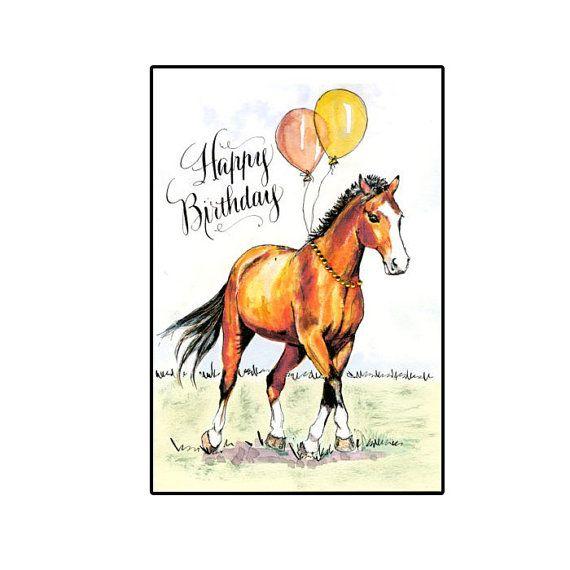 поздравительные открытки с лошадьми с днем рождения