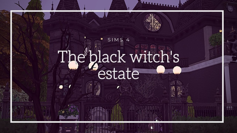 The black witchs estate|No CC|Строительство 🏡 THE SIMS 4|Stop Motion