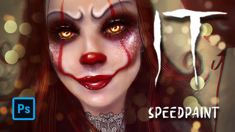 SPEEDPAINT PHOTOSHOP It Pennywise the Dancing Clown