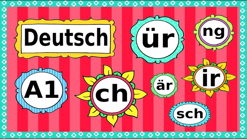 Deutsch A1: Phonetik / Aussprache / German lesson: phonetics / letter combinations