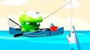 Смешное видео для детей – Ам Ням поймал Акулу на море! - Мультики для самых маленьких.