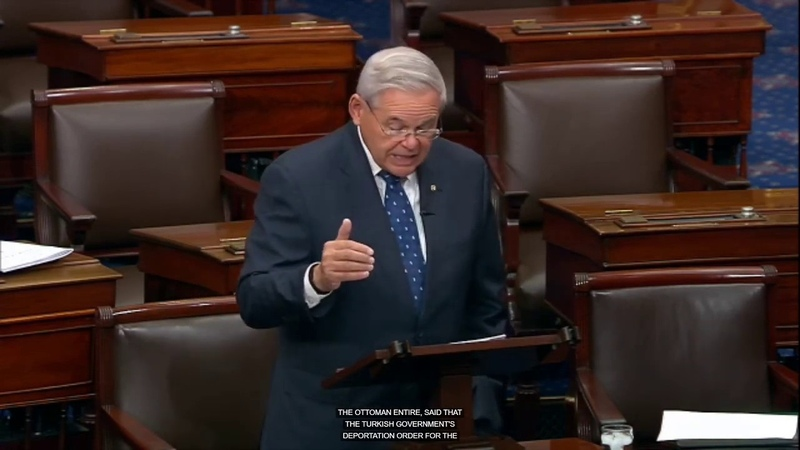 Senator Menendez Takes to the Senate floor to ask for Unanimous Consent on