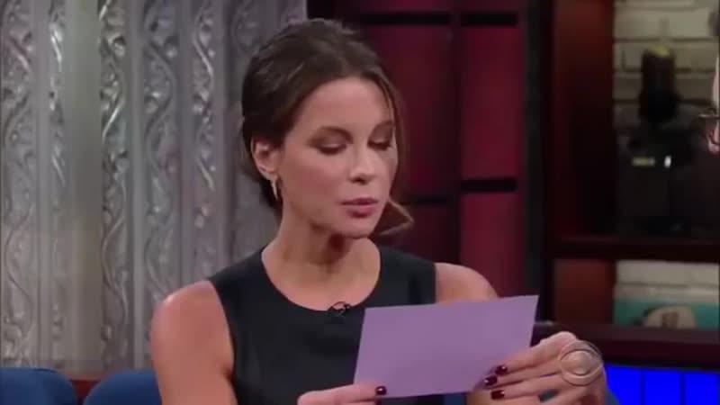 Кейт Бекинсейл на американском ТВ говорит по русски
