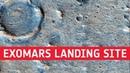 Fly over the ExoMars 2020 landing site