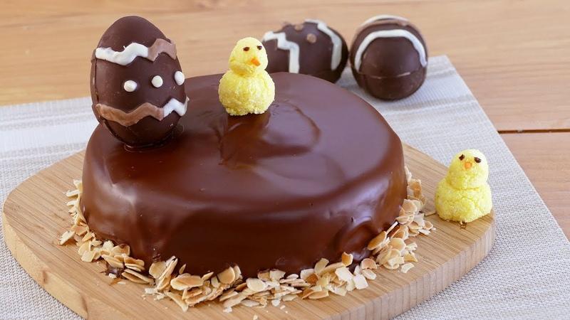 MONA de PASCUA de CHOCOLATE 🍫 con HUEVOS DE PASCUA y dulces POLLITOS de COCO 🐣 Cocinatis