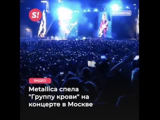 """Цой жив! Metallica спела песню """"Группа крови"""" КИНО на концерте в Москве"""