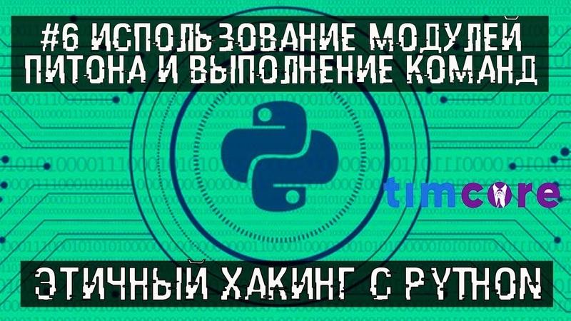 6 Использование модулей Python и выполнение системных команд Этичный хакинг с Python Timcore