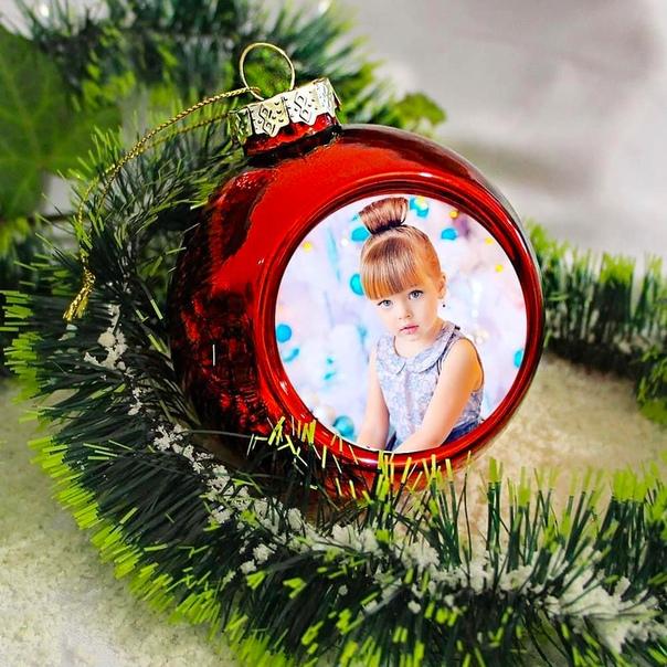 Фотосувениры печать фото на новогодних шарах