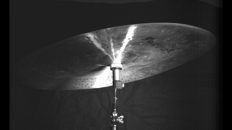 Never Seen Before China Cymbal on Aquarian Cymbal Spring in Super Slow-Mo (Cymbal Slow-Mo Video 2)
