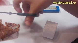 МК Новогодний декор - кольцо для салфетки с пуансеттией