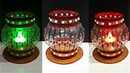 DIY Showpiece Tealight Holder from waste Plastic Bottle Best out of waste Room decoration idea