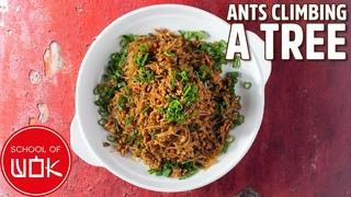 Ants Climbing a Tree Recipe (Pork and Noodles Stir Fry) | Wok Wednesdays