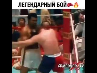 Величайший Мохаммед Али. Падает в нокдаун, встает и побеждает нокаутом!