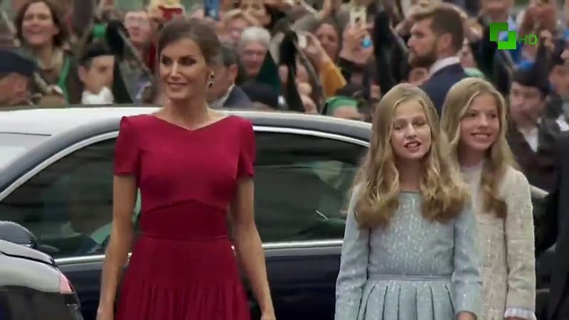 La familia Real llega a la Ceremonia de entrega de los premios princesa de Asturias 2019