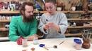 Склеивание декоративного керамического изделия переобжигом с использованием двухфазного клея
