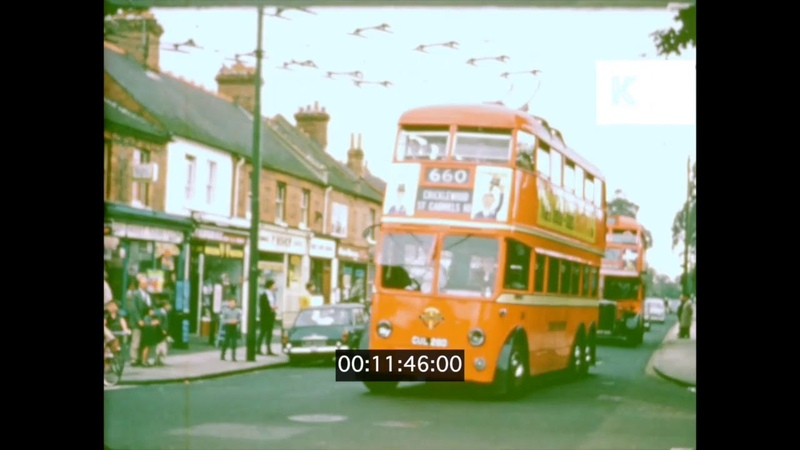 1960s UK Red Trolleybuses in Reading 16mm